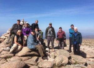 The SOS party on the Cairngorm summit (Jim Almond)
